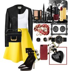 """yellow"" by agfs on Polyvore"