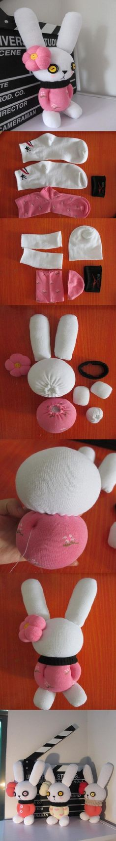DIY Cute Sock Bunny | iCreativeIdeas.com Follow Us on Facebook --> https://www.facebook.com/icreativeideas