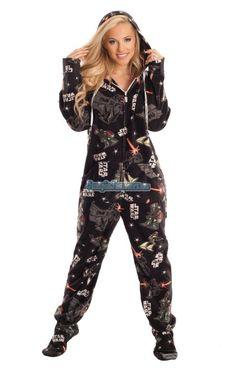 Star Wars Dark Side Footed Pajamas!!! SO. AWESOME.