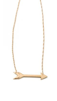 horizontal arrow necklace / jennifer zeuner