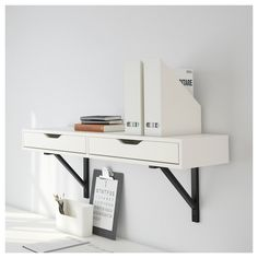 Online Ikea IKEA EKBY ALEX Shelf with drawers, white in Auckland NZ. Lowest prices and largest range of IKEA Furniture in New Zealand. Shop for Living room furniture, outdoor furniture, bedroom furniture, office and alot more ! Drawer Shelves, Wall Shelves, White Shelves, Drawer Unit, Storage Shelves, Small Space Living, Small Spaces, Small Apartments, Ikea Ekby