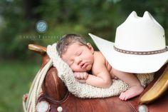 Sarah Feinstein Photography / Murfreesboro TN www.sfphotographytn.com / Newborn cowboy hat saddle boots photography