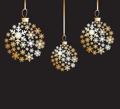 Golden Christmas design for reserved.