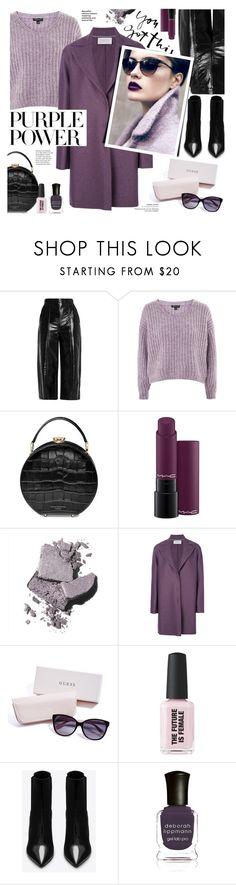 """Purple Rower"" by imurzilkina ❤ liked on Polyvore featuring MSGM, Topshop, Aspinal of London, MAC Cosmetics, Bobbi Brown Cosmetics, Harris Wharf London, GUESS, Yves Saint Laurent, Deborah Lippmann and purplepower"