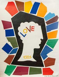 Yves Saint Laurent, LOVE poster, 1985