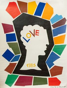 Yves Saint Laurent,  LOVE poster, 1985