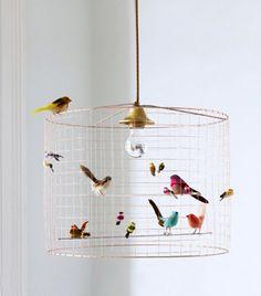 Graham & Green Volières Bird Cage Chandelier ($589)   Exclusive: Inside Naya Rivera's Graphic L.A. Nursery via @mydomaine