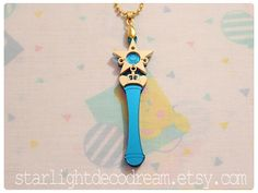 Sailor Mercury Star Power Stick Sailor Moon Inspired Necklace or Phone Strap for Mahou Kei & Magical Girl