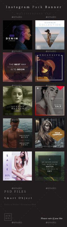 Instagram Banner Pack - Miscellaneous Social Media