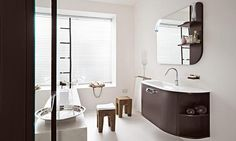 Cerasa by Lime Black Slim Bathroom Modern Collection