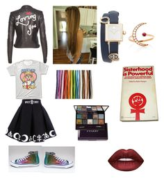 """Sisterhood is powerful"" by unicornwhisper on Polyvore featuring EF Collection, Tory Burch, Alice + Olivia, Lime Crime and By Terry"