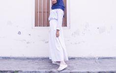Baby blue hijab ootd