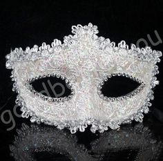 White New Unisex Lace Party Ball Masquerade Masks Man-made Paillette Flower #New #WithFlowerandWithoutFlower