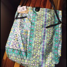 Cute shoulder tote NWT. Canvas/cloth type fabric Bags Totes
