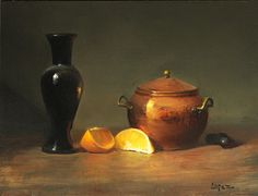 Leah Lopez :: Paintings :: Copper and Oranges