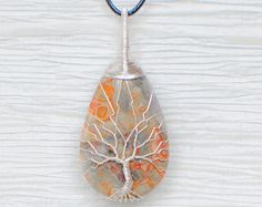 Árbol de la vida cobre alambre envuelto por RecycledBeautifully