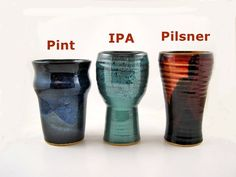 Stoneware beer glasses. idea of sizes for my beer drinking friends