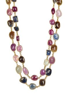 Natural Sapphire Layered Station Necklace on HauteLook