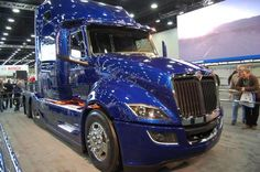 By 'near term' Navistar means that some of the design concepts shown on this vehicle can be made production ready in 24 to 36 months. Navistar International, International Harvester Truck, Chicago Illinois, Semi Trucks, Concept Cars, Class 8, America, Design Concepts, Buses