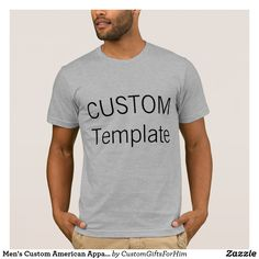 Men's Custom American Apparel T-Shirt HEATHER GREY