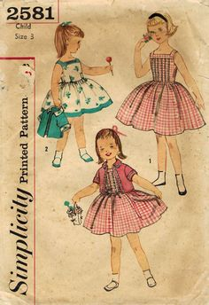 1950s Simplicity 2581 Vintage Sewing Pattern by midvalecottage