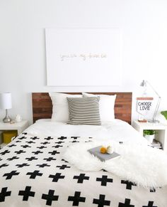 Ikea Hacks: Expensive-Looking Headboard | For more ideas, click the picture or visit www.thedebrief.co.uk