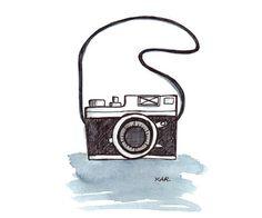 retro camera illustration