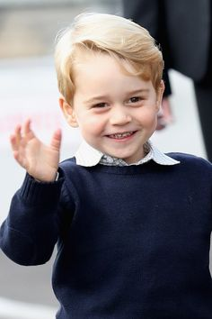 Prince George may be 4 years old, but he already has a good idea about what he wants to be when he grows up. Hint: it's not the king of England. Prince William And Kate, William Kate, Prince Philip, Princess Charlotte, Princess Diana, Royal Family Pictures, Royal Prince, Prince Harry, Her Majesty The Queen