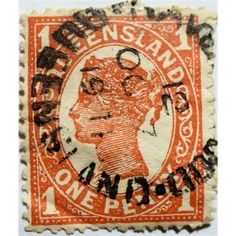 Queensland, Queen Victoria, One Penny, Queensland cancellation, used… Hindu Art, Rare Coins, Queen Victoria, Commonwealth, Antique Shops, Southeast Asia, Postage Stamps, Vintage World Maps, Empire