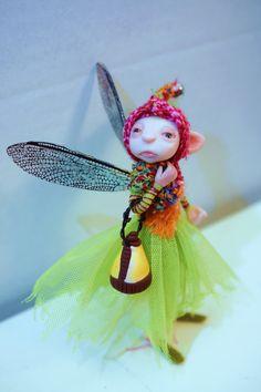 fairy scene OOAK polymer clay art dolls fairies gnomes and elves by Lindsey ... DinkyDarlings