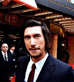 Adam Driver (Logan Lucky UK premiere). We're happy to have had you Mr D