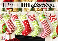 DIY Classic Cuffed Christmas Stocking tutorial! Pick your own fabrics from retro to modern to traditional!