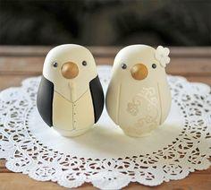 Custom Wedding Cake Topper  Love Bird Cake by RedLightStudio, $125.00