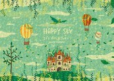 美しい空を見ると、幸せな気持ちになる。 きっと大丈夫って思える。 何があってもまた晴れると信じたい。 心に晴れを呼ぼう! HAPPY SKY. By Megumi Inoue. http://sorahana.ciao.jp/