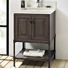 Fairmont Designs Toledo 24 x x Bathroom Vanity Driftwood Gray 24 Inch Vanity, 24 Inch Bathroom Vanity, 24 Vanity, Vanity Sink, Bath Vanities, Bathroom Faucets, Small Bathroom, Bathroom Ideas, Bathrooms