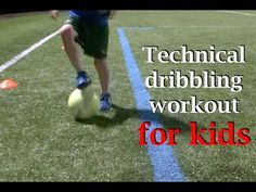 Technical dribbling workout for kids features 9 beginner/intermediate dribbling drills performed in real time.