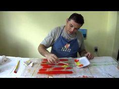 Técnica de gravura em Tecido - Monotipia.
