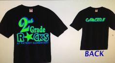 School Rocks TShirtPersonalized with Grade by Lockwoodlaserdesigns, $20.99