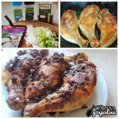 Pulpe de pui la tigaie // Fried chicken legs I Want To Eat, Chicken Wings, Lunch, Meat, Shop, Beef, Lunches