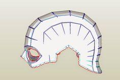 dali-lomo: Captain America DIY Helmet: Cardboard (pepakura template)