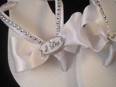 NEW STYLE 2013 So Sweet Bride I Do White Bridal Wedding Flip Flops