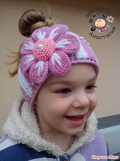 Super ideas for crochet kids hats girls ear warmers Crochet Kids Hats, Baby Girl Crochet, Crochet Gifts, Knitted Baby, Diy Headband, Knitted Headband, Crochet Beanie, Headbands, Ear Warmers