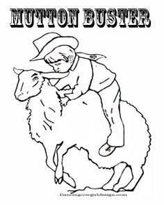 Mutton Buster Rodeo Coloring Page Free Printable