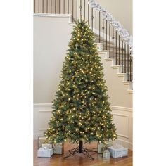 Holiday Living 9-ft Fir Pre-Lit Artificial Christmas Tree 700 ...