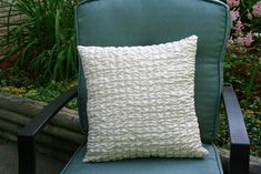 Center Stage: Textured Throw Pillow DIY with @SewCanDo | with #Durathon by Hamilton Beach® -- a complete step-by-step how-to photo tutorial. It's easy - you can do it at home!