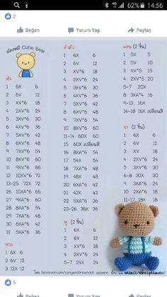 Diy Crafts - Mesmerizing Crochet an Amigurumi Rabbit Ideas. Lovely Crochet an Amigurumi Rabbit Ideas. Crochet Bunny Pattern, Crochet Amigurumi Free Patterns, Crochet Teddy, Crochet Animal Patterns, Cute Crochet, Crochet Dolls, Crochet Rabbit, Amigurumi Tutorial, Amigurumi Doll