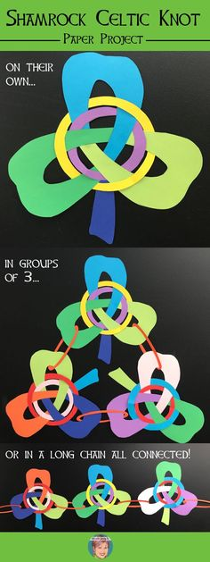 Teachers make something with your students for St. Patrick's Day that they will enjoy. This unique St. Patrick's Day activity includes all the instructions, templates and a teaching video you need to be successful with your students to create fun and unique shamrock celtic knots with paper!