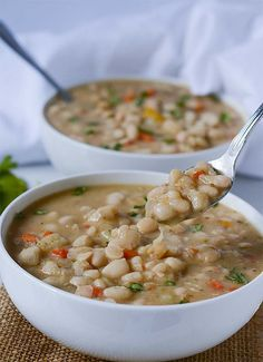 White Bean Soup  Creamy and flavorful beans perfect for the cold weather