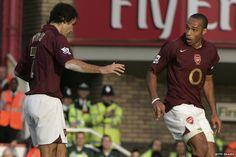 Robert Pires and Thierry Henry...