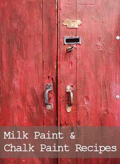 If you are tired of spending a fortune on paint for your DIY furniture painting hobby or business, you might be ready to start experimenting with a homemade milk paint or chalk paint recipe. There ...